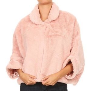 Jackets & Blazers - This super soft, faux fur, in dusty pink.